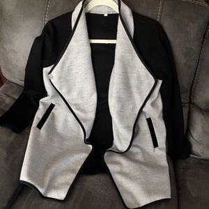 One snap close Jacket gray/black - Size Large